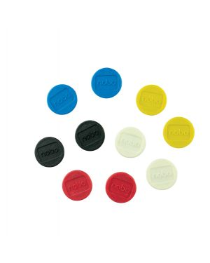 10 magneti Ø13mm colori assortiti nobo 1915290 5028252611121 1915290 by Nobo