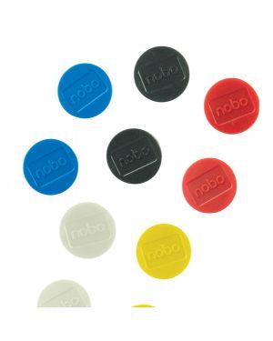 10 magneti extra-forte Ø38mm colori assortiti nobo 1915318 5028252611404 1915318 by Nobo