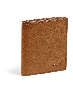 Portacard in pelle saffiano 8x9,5cm 16 card cognac niji 65088