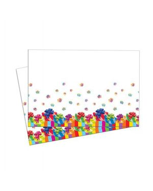 Tovaglia in plastica dim. 120x180cm buon compleanno pegaso PL-540231 8001619540231 PL-540231