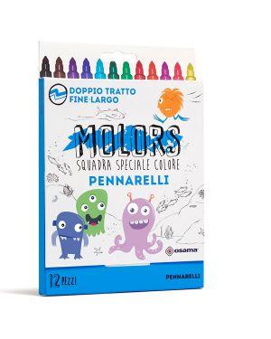 Astuccio 12 pennarelli colorati punta fine molors osama OW 12038 8007404243233 OW 12038