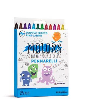 Astuccio 24 pennarelli colorati punta fine molors osama OW 12039 8007404243264 OW 12039