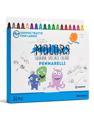 Astuccio 36 pennarelli colorati punta fine molors osama OW 12040 8007404243295 OW 12040