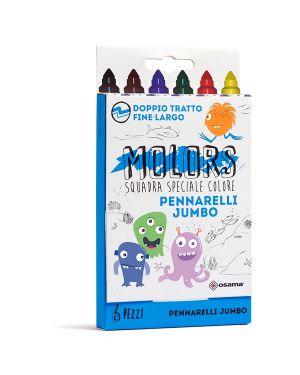 Astuccio 6 pennarelli colorati jumbo molors osama OW 12042 8007404243356 OW 12042
