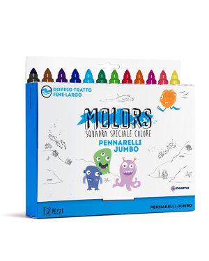 Astuccio 12 pennarelli colorati jumbo molors osama OW 12043 8007404243387 OW 12043