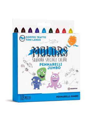 Astuccio 18 pennarelli colorati jumbo molors osama OW 12044 8007404243417 OW 12044