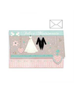 Biglietto auguri matrimonio portasoldi 4 soggetti ass. kartos 17983701 82321 A 17983701