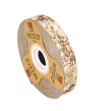 Rotolo nastro Woodly Corteggia 24mmx100mt avorio Bolis 51282421044