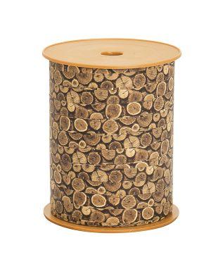 Rotolo nastro Woodly Tronchi 10mmx200mt Bolis 51281022060