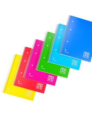 Maxiquaderno a4 spiralato 4mm c/fori 70gr 140fg one color blasetti CONFEZIONE DA 3 3068