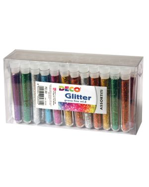 Glitter 50 flaconi grana fine 12ml colori assortiti cwr 130/50 8004957022551 130/50