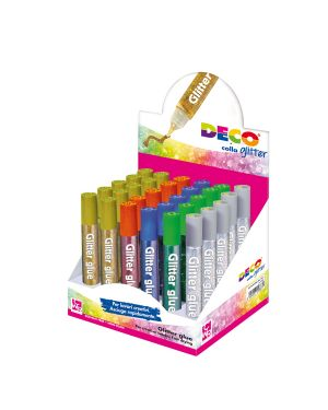 Display colla glitter 30 penne 10,5ml colori assortiti metal cwr 5887 8004957058871 5887
