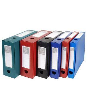 Scatola archivio box con bottone rosso f.to 25x33cm d 40mm exacompta 54635E 3130630546351 54635E