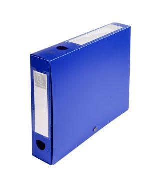 Scatola archivio box con bottone blu f.to 25x33cm d 60mm exacompta 59632E 3130630596325 59632E