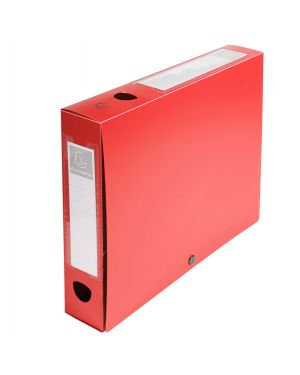 Scatola archivio box con bottone rosso f.to 25x33cm d 60mm exacompta 59635E 3130630596356 59635E