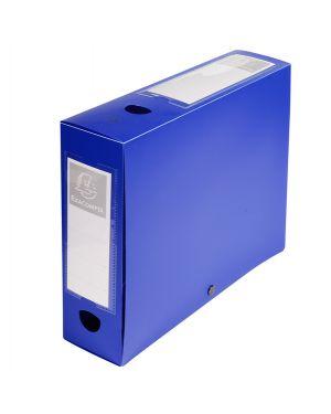 Scatola archivio box con bottone blu f.to 25x33cm d 80mm exacompta 59832E 3130630598329 59832E