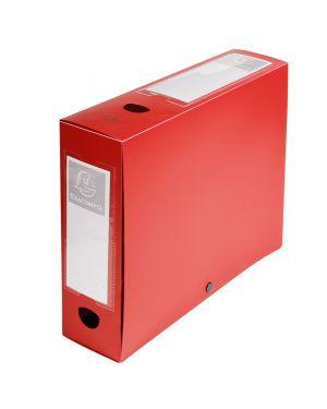 Scatola archivio box con bottone rosso f.to 25x33cm d 80mm exacompta 59835E 3130630598350 59835E