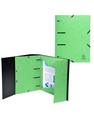 Cartellina 3 lembi forata c - elastico verde anice cartoncino lustre' punchy 447103E 3130634471031 447103E by Exacompta