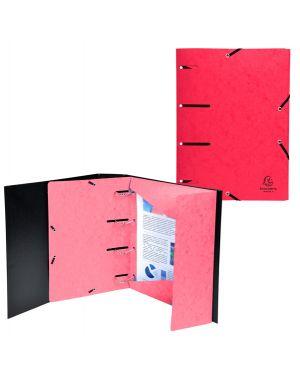 Cartellina 3 lembi forata c - elastico rosso cartoncino lustre' punchy 447105E 3130633447105 447105E