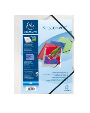 Cartellina personaliz. in pp c - elastico bianco trasparente 24x32cm kreacover 55188E 3130630551881 55188E by Exacompta