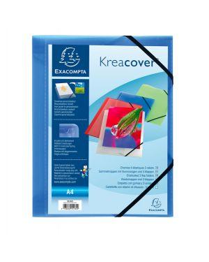Cartellina personaliz. in pp c - elastico blu trasparente 24x32cm kreacover 55182E 3130630551829 55182E