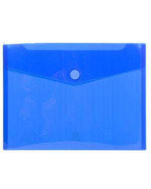 Busta a tasca con velcro in pp blu trasparente f.to 24x32cm per a4 exacompta CONFEZIONE DA 5 56422E