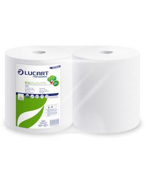 Bobina asciugatutto 800 strappi  -  200mt microgoffrata eco pulitutto lucart 851192  851192 by No