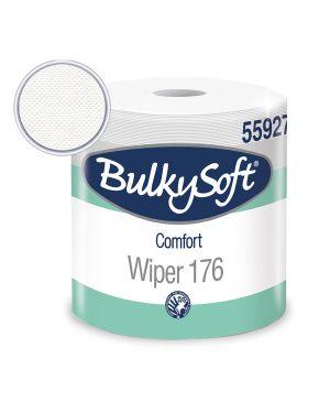 Bobina Asciugatutto 800 strappi / 176mt microgoffrata Comfort BulkySoft CONFEZIONE DA 2 55927