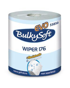 Bobina asciugatutto 800 strappi  -  176mt microgoffrata classic bulkysoft 55850  55850 by No