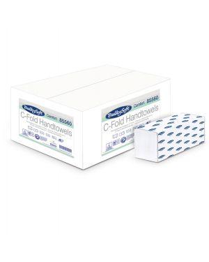 Pacco da 153 asciugamani piegati a c goffrato micro comfort bulkysoft 85560 82481 A 85560