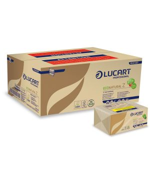 Pacco da 220 asciugamani piegati a Z EcoNatural Lucart CONFEZIONE DA 18 864036P
