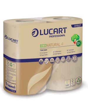 Pacco 4 rotoli carta igienica 400 strappi econatural lucart 811927 8005892346498 811927