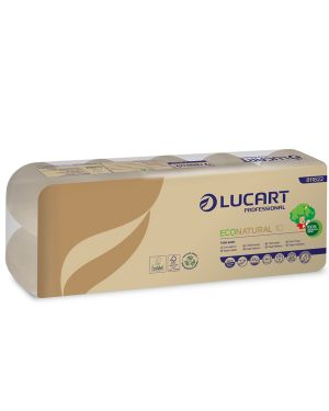 Pacco 10 rotoli carta igienica 180 strappi econatural lucart 811822B 8005892346061 811822B by No