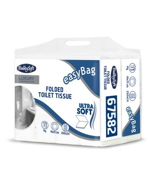 Pacco 250 strappi Carta Igienica interfogliata EasyBag BulkySoft CONFEZIONE DA 24 67582