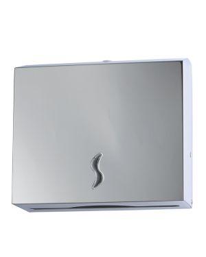 Distributore asciugamani piegati 200fg in acciaio inox 105011 8033433770815 105011