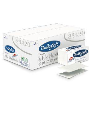 Pacco da 144 asciugamani piegati a z easypack aprichiudi bulkysoft 83420 8018426834200 83420