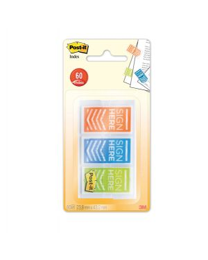 "Set 60 segnapagina post-it index 682-sh-obleu medium ""firma qui&#34 31845 76308150327 31845"