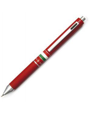 Penna sfera scatto multifunzione quadra fusto rosso gommato italia osama OD 1024ITG/1R 8007404224546 OD 1024ITG/1R by Uni Mitsubishi