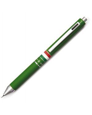 Penna sfera scatto multifunzione quadra fusto verde gommato italia osama OD 1024ITG/1V 8007404224553 OD 1024ITG/1V by Uni Mitsubishi