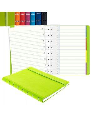 Notebook f.to a5 a righe 56 pag. rosso similpelle filofax 115008  115008 by No