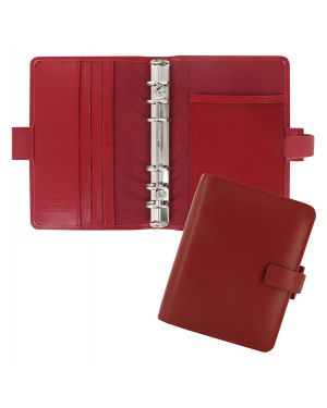 Organiser Metropol Pocket f.to 146x115x35mm rosso similpelle Filofax L026962 by No