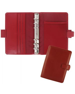 Organiser Metropol Personal f.to 188x135x38mm rosso similpelle Filofax L026910