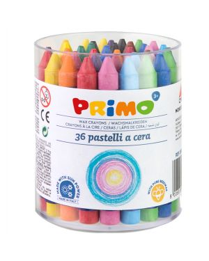 Barattolo 36 pastelli a cera jumbo Ø10,5mm 100mm primo 0561PC36I 8006919308826 0561PC36I by Primo - Morocolor