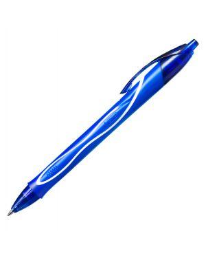 Scatola 12 penna sfera scatto gelocity quick dry blu bic® 950442