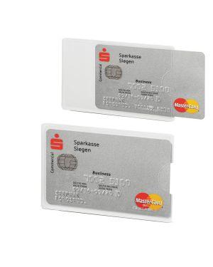 Tasca porta carte di credito argento trasp. 54x87mm rfid secure durable 8903-9 82729 A 8903-9