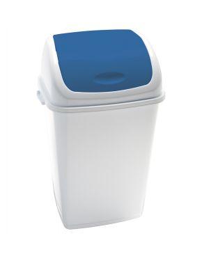 Pattumiera a basculante 50lt rif basic bianco - blu 909055 8056324532453 909055