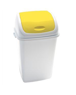 Pattumiera a basculante 50lt rif basic bianco - giallo 909056 8056324532460 909056