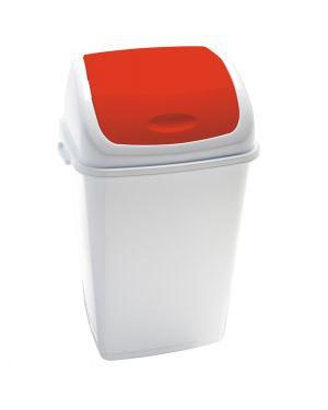 Pattumiera a basculante 50lt rif basic bianco - rosso 909057 8056324532477 909057