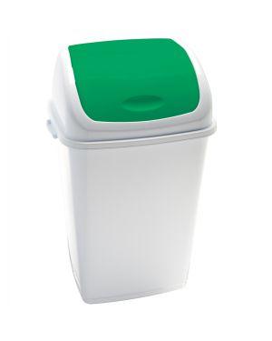 Pattumiera a basculante 50lt rif basic bianco - verde 909058 8056324532484 909058