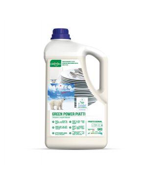 Detergente piatti tanica 5lt green power sanitec 3104 8032680393662 3104